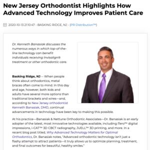 Dr. Kenneth Banasiak highlights patient benefits afforded by advanced orthodontic technology.